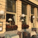 tables outside for a sunny days dining or breakfast in the sun :)