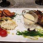 risotto cremeux avec poisson du jour