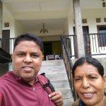 With the landlady