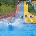 The winner is...the one that splashes most water at the Kamikaze Racer