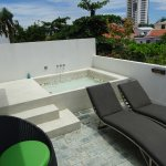 penthouse private outdoor patio and spa
