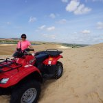 Moving around on ATV. Do keep your pockets secure as you don't want things falling out.
