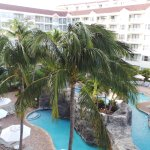View of pools from balcony of room 5437