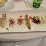 Fresh raw sea food