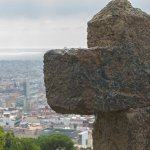 At the uppermost point within the park are views across Barcelona