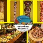 Μεγάλη ποικιλία από σαλάτες,βραζιλιάνικα μαγειρευτά και 10+1 ψητά κρέατα στα κάρβουνα!!!