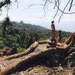 The dream hand, overlooking the top of the world, on the hike to Niihioka :)
