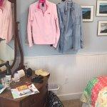 improvised closet, not in website photo!