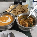 Lunch - banana curry and lentil dumplings