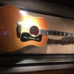 Another view of the Hank Williams Jnr Guild guitar