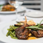 Our juicy lamb chops served with rosemary and veggies