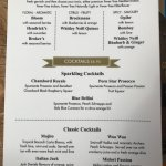 Our new drink and food menus