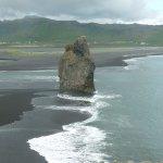 A striking rock on the Myrdal Beach