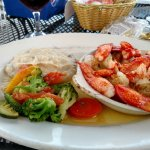 Stuffed shrimp and lobster! Amazing!