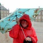 The square in the rain