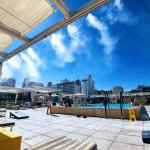 Misters on the pool deck can drop the temperature a good 10-15 degrees on hot days