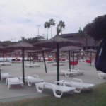 Parasol/Lounger Area between Wave Pool and Kids Pools