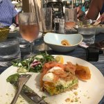 Delicious lunch a the pool bar