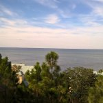 The view of Choctawhatchee Bay from our balcony.