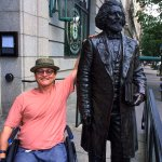 My husband with Frederick Douglas.