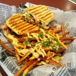 Tripleta with cajun fries