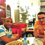 A delicious dinner and good company, with Ben & Mohamed at Riad Lalla Zoubida