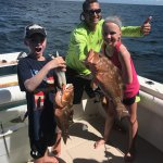 A couple of excited kids catching their first Groupers!!!