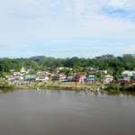 Fine view of the other bank of the Sarawak River