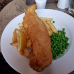 fish, chips and peas. The Sussex Arms