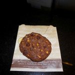 The chocolate chip cookie given to guests on check in - very nice!