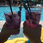 Amazing drinks by the pool.