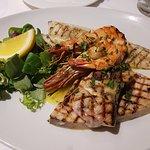 mixed sea grill - swordfish, sea bass, giant king prawns