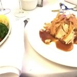 Turkey & Ham, side of vegetables at wedding