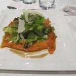 délicieux carpaccio de saumon
