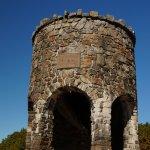 Rock tower on top of Mt. Battie