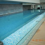 Indoor pool on 10th floor - heated, large and clean
