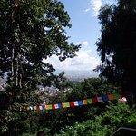 Prayer flags on the way up at Swayambhunath