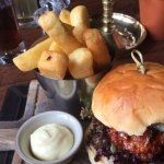 Pork and chorizo burger