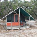 safari tents beach front
