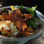 Salade poulet sucré salé