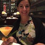 Mango martini in a decadent beautiful setting