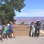 Team at top of Bright Angel Trail