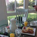 Breakfast in a lovely sunroom