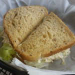 Chicken salad on wheat bread