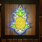 Lobby pic of the pineapple branding