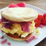 Amazing Organic breakfast sandwich