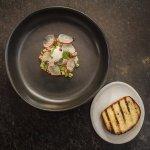 preserved mushroom tartare, sour cream, radish, potato bread