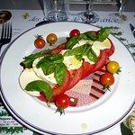 tomates délicieuses à la mozarella