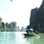 Photos take at the cave @Ha Long Bay , with tour guide Rocky & comfortable reclining bus seats &