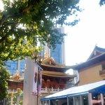 Outside temple near Jing'an metro station